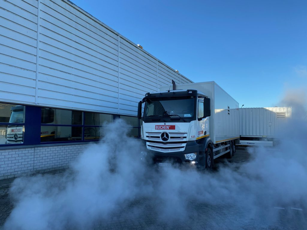 Warmwater hogedruk unit tot 90º Celsius